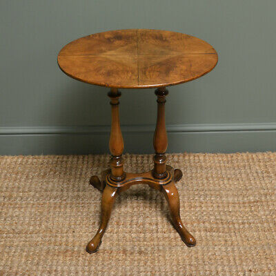 Small Edwardian Figured Walnut Antique Occasional Table