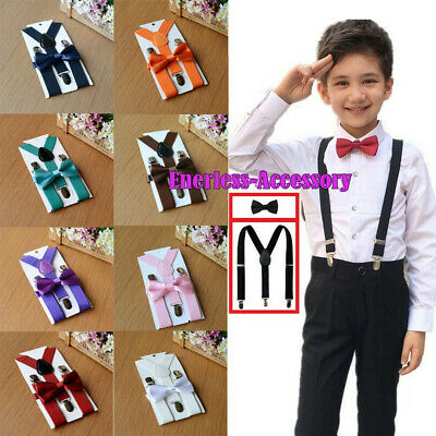 Suspender and Bow Tie Set for Baby Toddler Kids Boys Girls Child -BEST PRICE