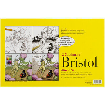 """Strathmore Bristol Smooth Paper Pad 11""""X17""""-24 Sheets"""