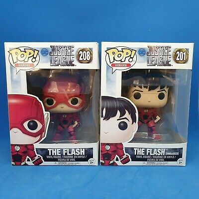 Justice League The Flash 201 (unmasked) and 208 (masked) | Funko Pop Vinyl