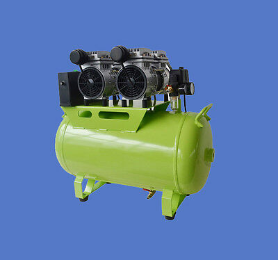 Quality Dental Clinic Noiseless Oilless Air Compressor Motor 60L Tank f/ 3 chair