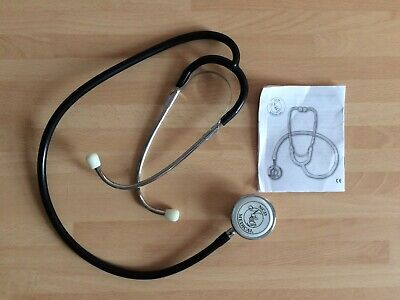 Ncd Professional Dual-Head Stethoscope, Black & Chrome, Lightweight, Unused!!