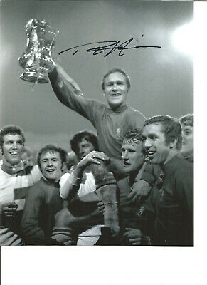 Football Autograph Ron Chopper Harris Chelsea FC Signed 10x8 in Photograph JM36