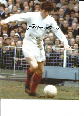 Football Autograph Eddie Gray Leeds United FC Signed 10x8 inch Photograph JM41