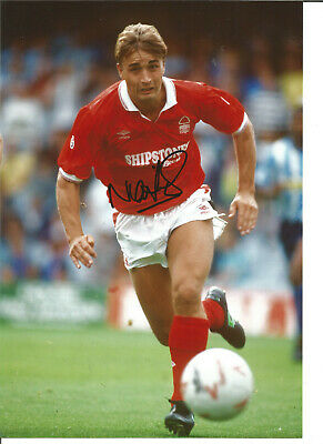 Football Autograph Nigel Jemson Nottingham Forest Signed 12x8 in Photograph JM42