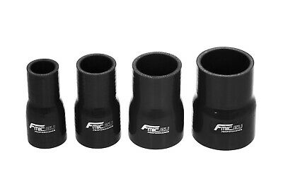 Black Silicone Hose Straight Reducer - All sizes coolant intercooler water pipe