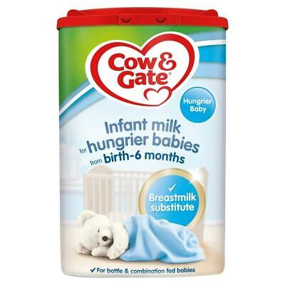 Cow & Gate Infant Milk for Hungrier Babies from Birth, 800g