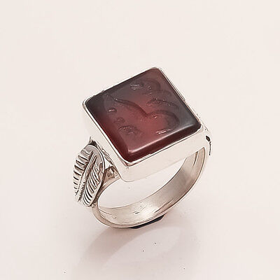 New Rare Allah Islam Muslim Inshalla 925 Sterling Silver Handmade Turkish Ring