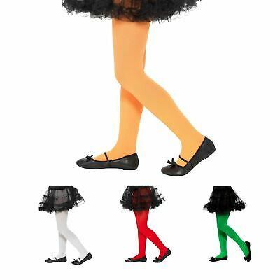 6-12 Years Girls Kids Opaque Colour Quality Costume Tights Halloween Christmas