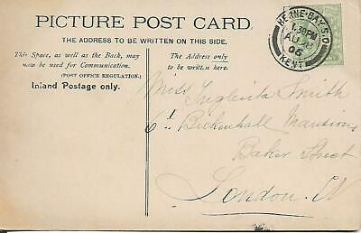 KING EDWARD VII ½d GREEN WITH HERNE BAY CANCEL ON P/C  1906 REF 2559