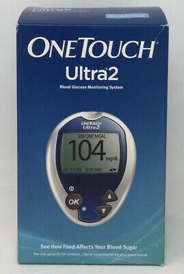 One Touch Ultra 2 Blood Glucose Monitoring System Before/After Meals Factory NEW