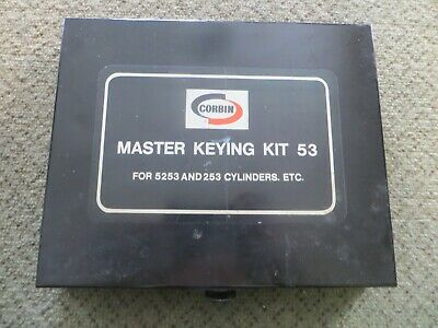 LOCKSMITHS - Vintage CORBIN MASTERKEYING KIT 53 for Corbin locks