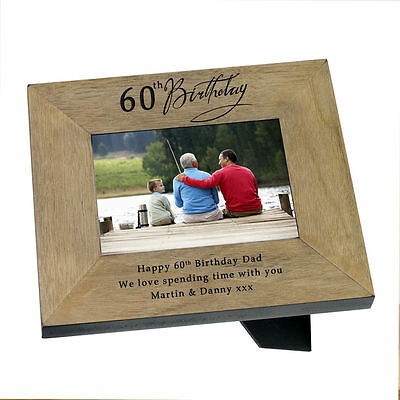 60th Birthday Present Photo Frame Him Her with engraved message #1