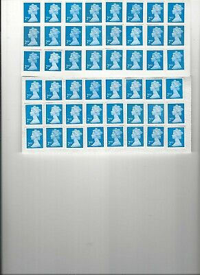 Gb 48 2Nd Class Unfranked Stamps F/V £29.28
