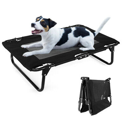 Elevated Dog Bed Lounger Sleep Pet Cat Raised Cot Hammock Portable Home Outdoor
