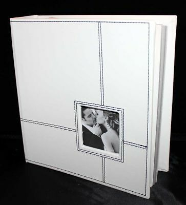 Engagement gift white black stitched Photograph album | Cellini Albums #1