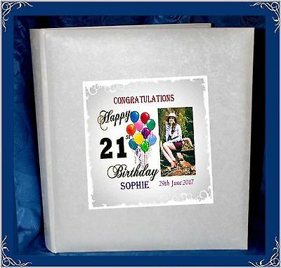 21st Birthday Interleaved album personalised gift Present | Cellini Albums #1