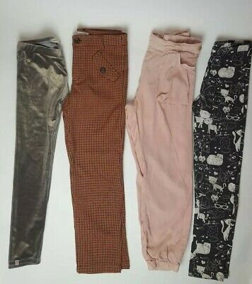 Bundle Of 4 Zara Girls Trousers Leggings 10 Years