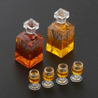 6Pcs Colorful Wine Bottles Dollhouse Miniature 1:12 Scale TOY BF