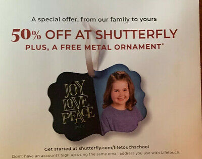 Shutterfly Photo Coupon 50%off Everything 1/31/20 Plus Ornament Or 10 Cards