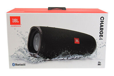 JBL Charge 4 Portable Waterproof Wireless Bluetooth Speaker - Black *CHARGE4BLK