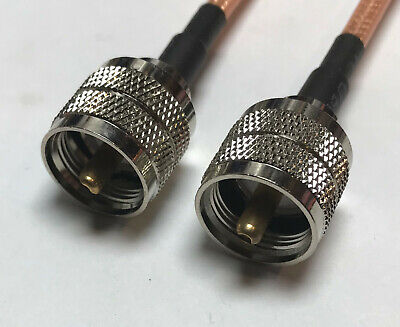 N-Type male plug to Mini UHF male RF RG400 M17//128 Coaxial Low Loss Cable 50ohm