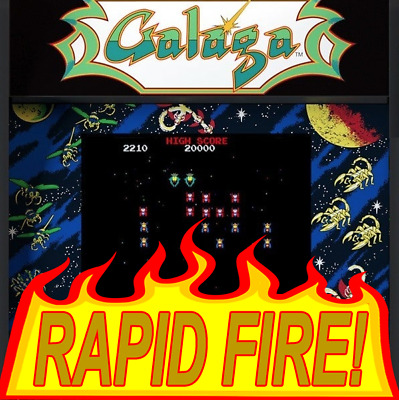 Arcade1UP GALAGA Fast Fire! Upgrade Service,Flash to latest software,Rapid shoot
