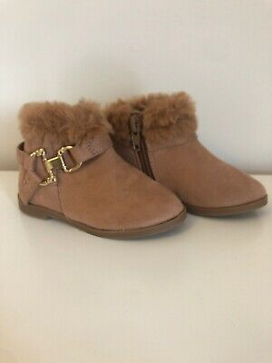 River Island Mini Brown Ankle Boot Girls Size 4 Brand New