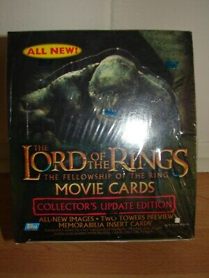 new sealed LOTR Fellowship collectors update edition hobby box ideal xmas gift