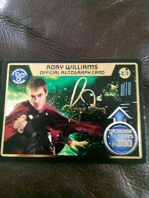 Dr Who Monster Invasion Card Official Autograph Card Rory Williams 3/3