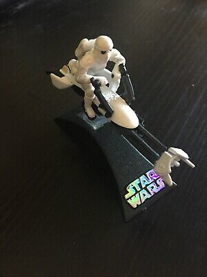 "Star Wars Titanium Series Die Cast 3"" Speeder Bike Blizzard Force 2007 HM8"