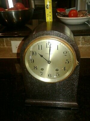 Beautiful Antique Seth Thomas Mahogany Wood Mantle Parlor-Beehive Chime Clock!!