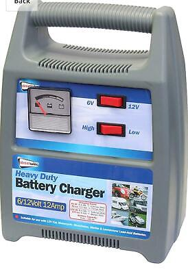 Streetwize SWBCG12 Automatic Battery Charger - 6/12V, 12Amp Emergency Jump Start