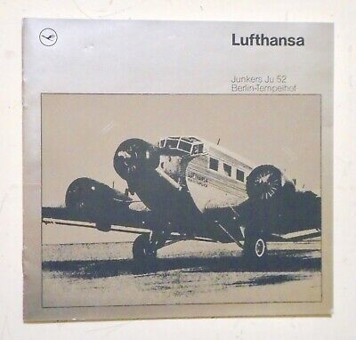 LUFTHANSA AIRLINES Junkers Ju 52 Berlin-Templehof - History of 1st Airplane 1936