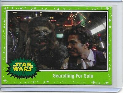 Topps Star Wars Journey to Rise of Skywalker Searching for Solo Green Parallel
