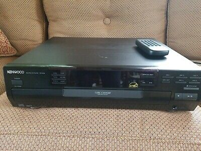 Kenwood CD-404 5 CD Disc Changer Player Carousel Style w/REMOTE tested works