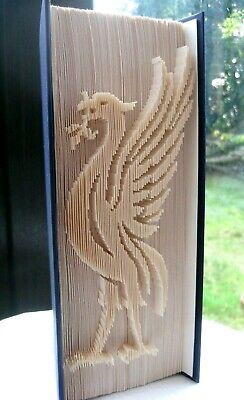 Liver Bird - Liverpool Football Club Crest - Folded Book Art - Unique Gift