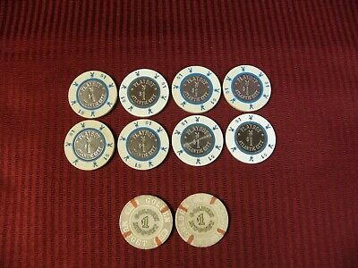Casino Gaming Chips Lot Atlantic City Playboy $1 Las Vegas Golden Nugget $1