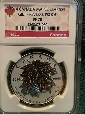 2014 Canada $5 Maple Leaf NGC PF70 Reverse Proof *Very Nice & No Reserve!