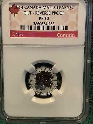 2014 Canada $2 Maple Leaf NGC PF70 Reverse Proof *Very Nice & No Reserve!