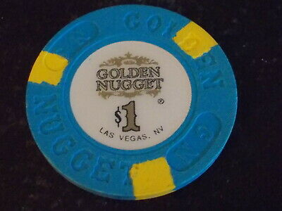 GOLDEN NUGGET HOTEL CASINO $1 hotel casino gaming poker chip ~ Las Vegas, NV