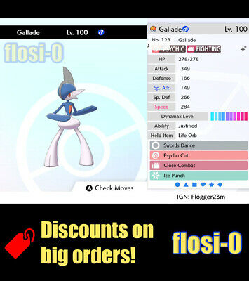 6IV Shiny Gallade (Ultra / Square Shiny) Poke Guide [Sword and Shield]
