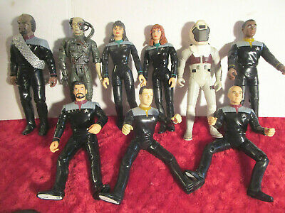 "HUGE LOT 9 STAR TREK Figures 6"" Bundle Playmates 1996"