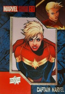 2017 Upper Deck Marvel Annual COMIC PATCH Card CAPTAIN MARVEL CP-1
