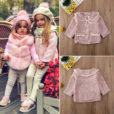 Lovely Toddler Kid Baby Girl Autumn Winter Tassel Coat Formal Party Wear Clothes