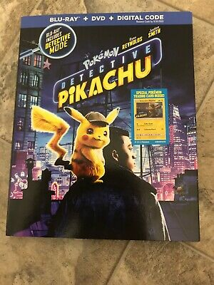 Pokémon DETECTIVE PIKACHU (BLU-RAY DVD 2019) No Digital