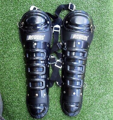 Regent Hockey Black Shin Guards New Old Stock