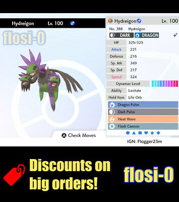 6IV Shiny Hydreigon (Square / Ultra Shiny) Poke Guide [Sword and Shield]