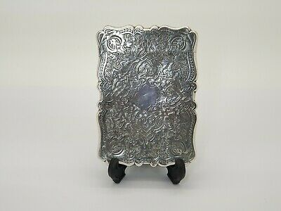 Antique Victorian Solid Silver Calling Card Case - 1872 Frederick Marson