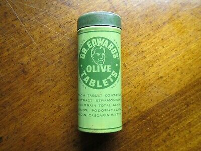 DR. EDWARDS OLIVE TABLETS Tin - The Olive Tablet Co. Columbus Ohio OH Laxative